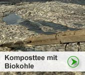 Herstellung von Komposttee mit Biokohle fruchtbarer Böden